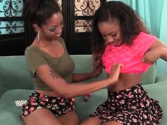 Sweet Lesbos Licking And Fingering Choco Twats