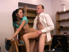 ravishing angel gets a wild drilling from horny old teacher