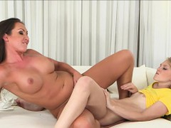 Busty Milf Beauty Seduces Teen Babe Into Sex