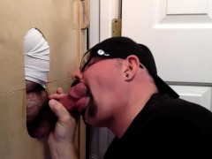 Trucker At The Gloryhole With A Load Of Cum