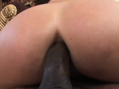 she takes a big black cock up her booty