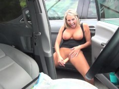 Voluptuous Blonde Bombshell Pleases Herself With Fuck-a-thon Fucktoys I