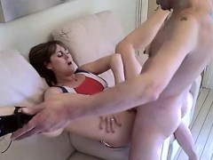 Insatiable wife gets her needy peach devoured and fucked by