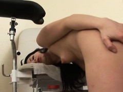 nasty-doctor-examines-brunettes-arse