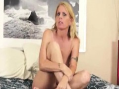 tattooed milf jerks dick after getting caught