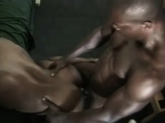 Ripped Black Thug Bends Over To Have His Tight Asshole Wrecked