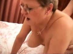 chubby euro granny with monster hooters rides and does sixty-nine