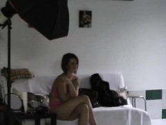 cumshot in backstage for cute czech chick