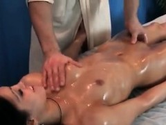 sensual massage for brunette