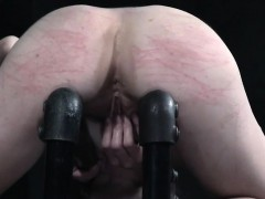 Restrained Submissive Rubbing Her Pussy