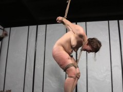 Repressed Slut Roughly Caned While Tied Up