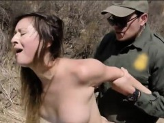 kinky amateur babe nailed in the asshole by border patrol