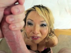 Asian Stunner Point of view Gagging
