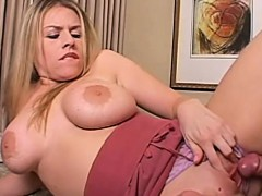 Daphne Rosen is a sexy blond with big breasts. She's a