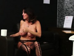 nasty doll gets cumshot on her face swallowing all the spunk porno