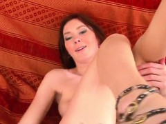 erotic slut is gaping narrow slit in close up and cumming