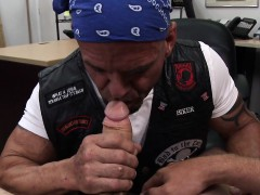 Pawnshop Biker Amateur Assfucks For Quickcash