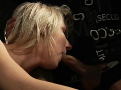 Blonde Teen In Bondage Hard Fucking And Sucking