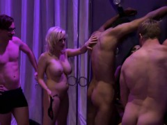 Sexy Women Having Joy With Hunky Dudes In Playboy Mansion