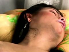 Chubby Ladyboy In Nurse Lingerie Strips Off And Masturbates