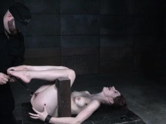 subdued redhead slave muffin and nipple punished