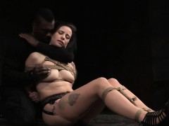 restrained-sexslave-punished-by-black-master
