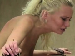 blonde bitch keeps getting spanked