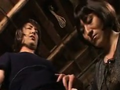 Two Hot Japanese Crossdressers Teasing And Pleasing Each Ot