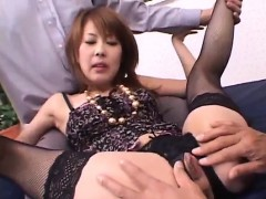 sakurako accepts penis in each of her furry holes