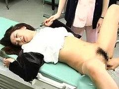 luscious japanese lady has her doctor toying and pounding h