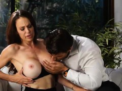 he cant resist – busty milf loves jizz on her massive tits