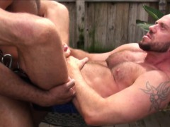 suspended-dilf-bear-barebacked-by-bbc