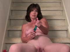 usawives-horny-wife-on-the-stairs-masturbate