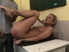 Euro Beauty Tied Up And Fucked In Missionary