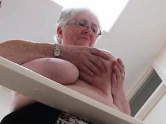 Granny Licks Their Boobs