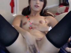 Tiny Tits 18yo Asian Teen Hopes Santa Will Fuck Her Rough