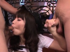 multiple penis blowing xxx porn show with hinata tachibana