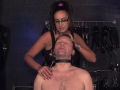 femdom-giving-bj-humiliation-task-to-male-sub