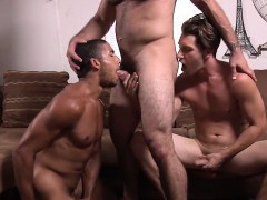 Ricky Wants To Join The Threesome Action With Paul And Mike