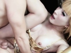 lingerie-ladyboys-ass-plowed-while-jerking