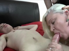 Gilf And Brunette Threesome Sex