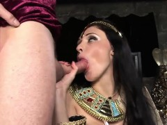 Two ravishing hotties share two massive rods