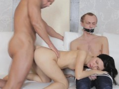 petite euro cuckolds her boyfriend