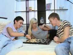 Cute Luscious Gal Gets Group-fucked