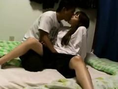 kinky japanese schoolgirl exchanges oral pleasures with her