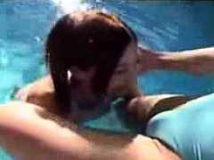 Sexy Tranny Gets Her Lady Dick Sucked And Then They Go Swim