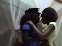 horny african lesbians enjoy eating each other pussies