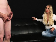 sexy blonde domina mocks