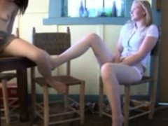 Mutual masturbation step sisters April and Jacqueline