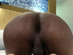 Cute Ebony Tgirl Masturbating In Solo Action